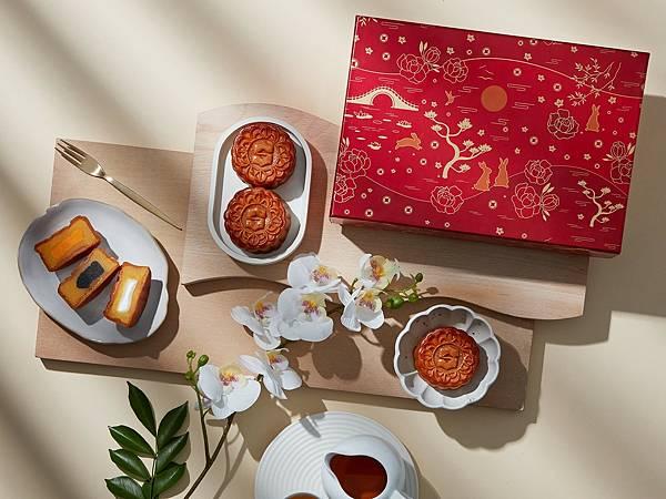 香格里拉台南遠東國際大飯店 花紅 奶黃月餅禮盒
