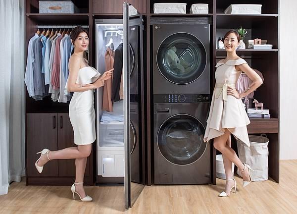 19_前年LG推出滾筒洗衣機與乾衣機堆疊,除了解決室內一次置放洗乾衣機問題,讓居家空間大升級外,洗乾衣機殺菌潔淨功能,也獲得消費者一致好評。LG為提供消費者更流暢的衣物