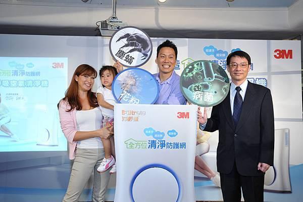 圖一 美商3M邀請艾力克斯夫婦代言,共同打造全方位居家空氣清淨防護網.jpg