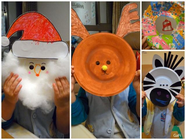 自製面具和花圈
