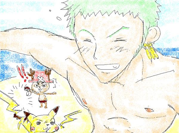 Zoro & Chopper & Pikachu