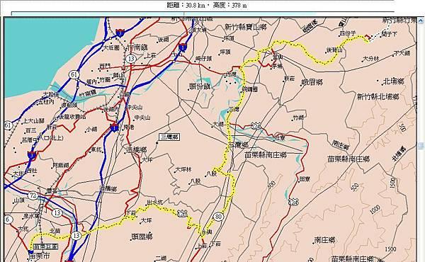 第二天(20070716)上午,從苗栗巨蛋到北埔國小49km.JPG