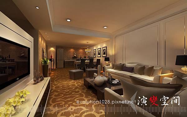 酒店-家庭40坪客廳