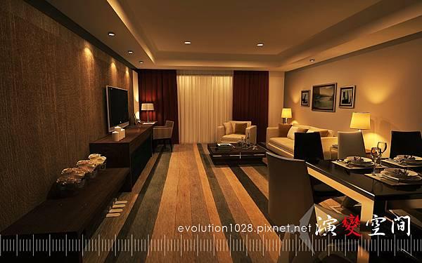 酒店-家庭50坪客廳