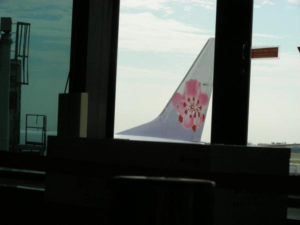 應該是等等要坐的飛機吧???