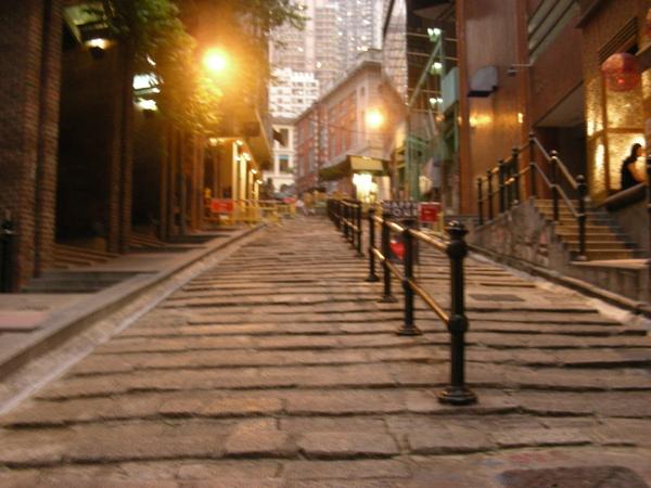 後來我跑去走旁邊 B還很開心的一直走那石頭路 這種路台灣一堆!!!!