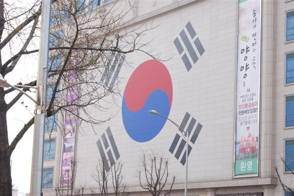 四處都有韓國國旗阿