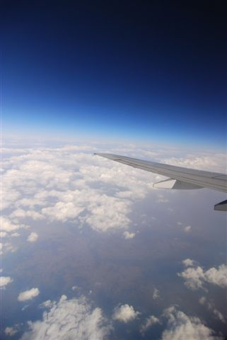 韓國上空的天空
