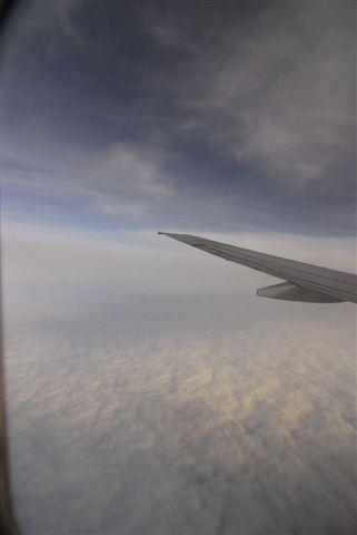 到了台灣天空雲層變很厚
