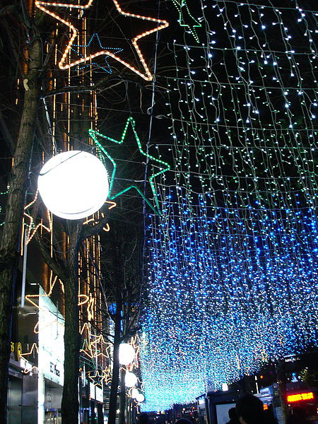 聖誕節燈飾 漂亮~