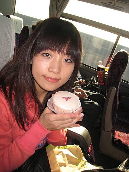 在星巴客買的櫻花蛋糕^0*