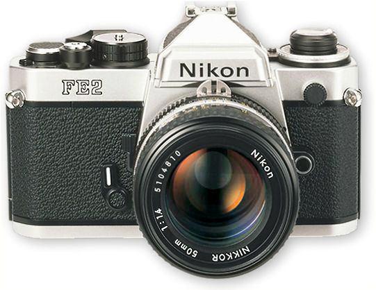 Nikon 一代銘機 FE2 比FM2更強大的功能。