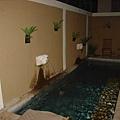 villa的私人泳池