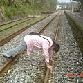在平溪車站的鐵路上2