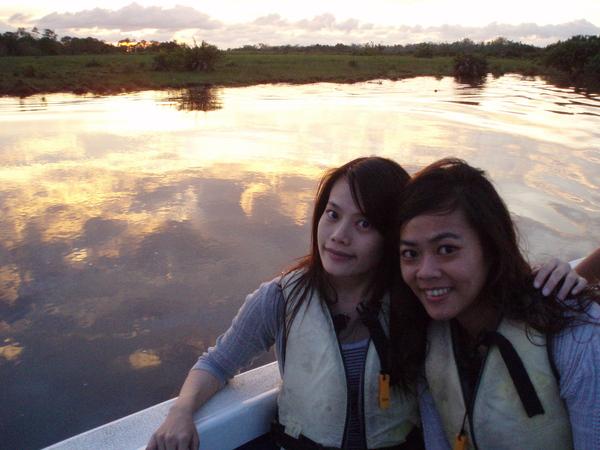 沙巴夕陽下的ann&me
