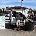 賣椰子的攤販