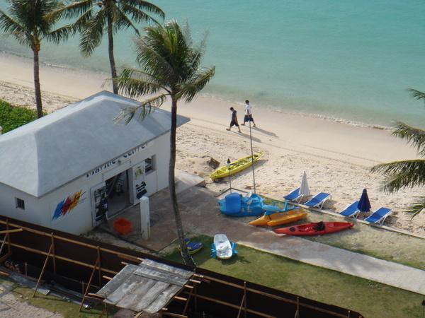 飯店沙灘上的活動設施