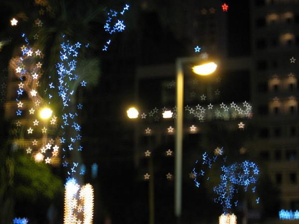 燈都變成星星了