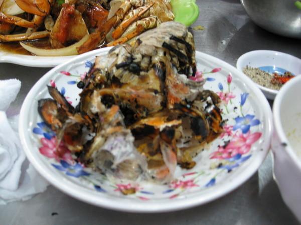 大頭蝦的殼....