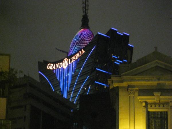 夜晚的新葡京酒店