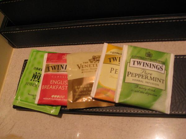 總共有5種茶包喔