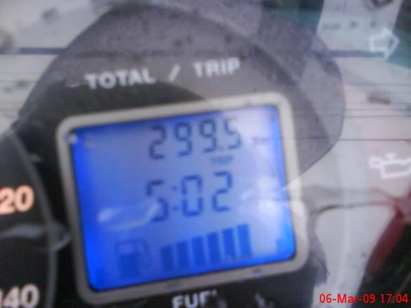 今天總共騎了299.5km~