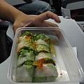 泰亞航要自費的餐-越南春捲