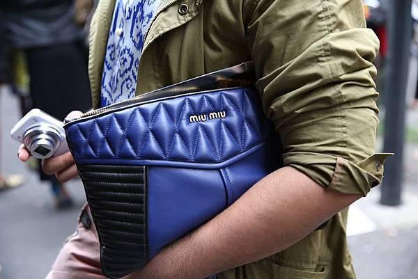 street style fashion week nappa biker clutch