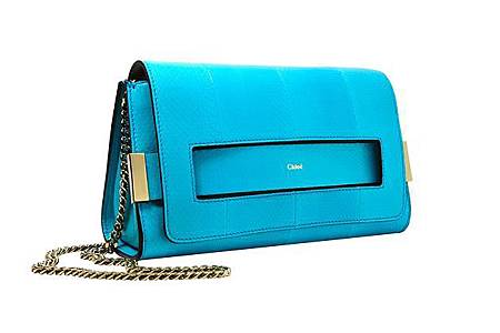 Cck96sOMADOIxKLX11eD1cIYYRlDN68Q_ELLE Medium Clutch With Chain In Washed Blue Ayers