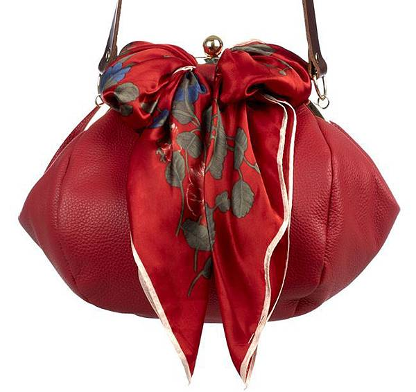 lie down i think i love you-womens-lie-down-handbag-big-bubble-red-41129