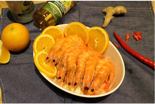 上班這黨事年菜-老薑橙香冷蝦