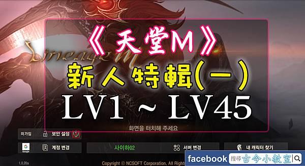 天堂M - 新人特輯(一) - LV1~LV45.jpg