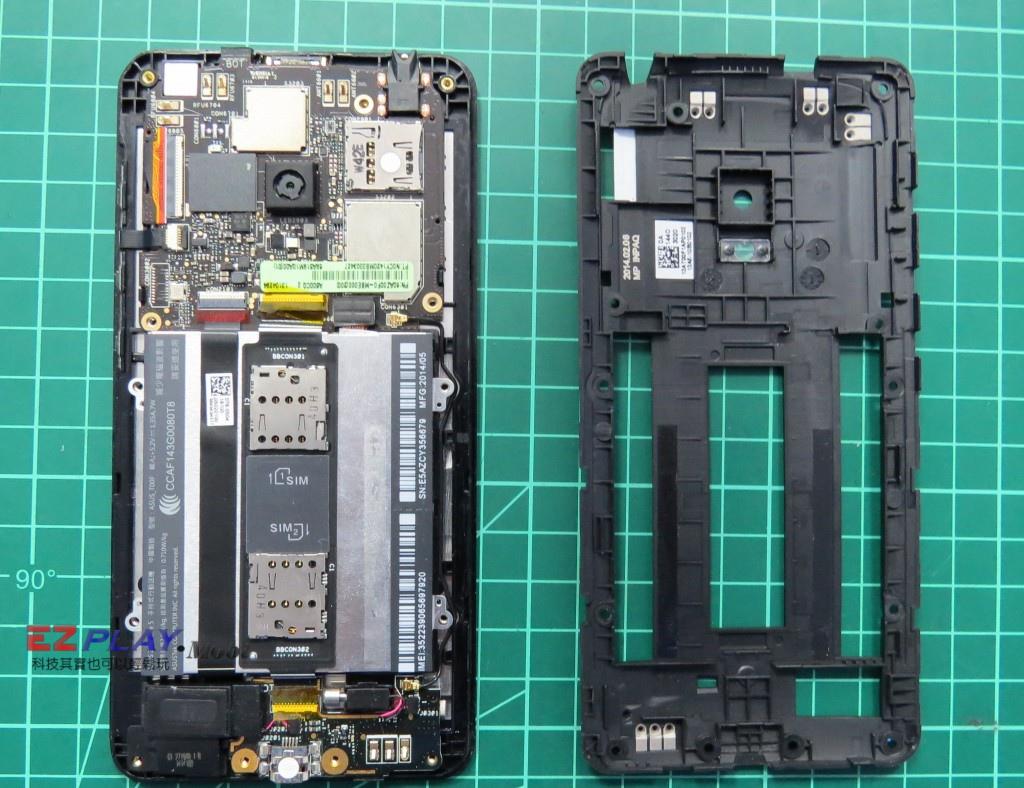 華碩Zenfone5面板拆裝記5
