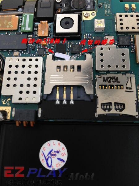 Samsung Note N7000 SIM卡座損壞更換實錄5