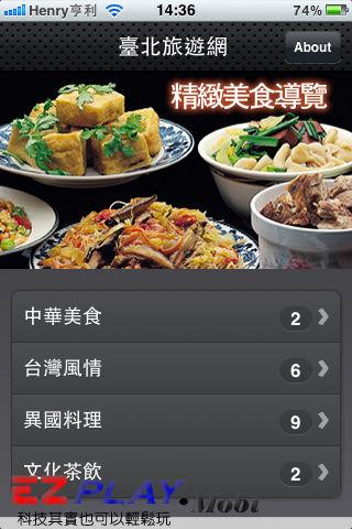 App實用工具(10)台北精緻美食2