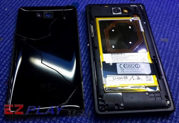 華麗變身,黑機變白機,SonyXperia Z2a 面板更換實錄3