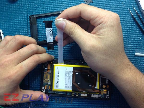 華麗變身,黑機變白機,SonyXperia Z2a 面板更換實錄5