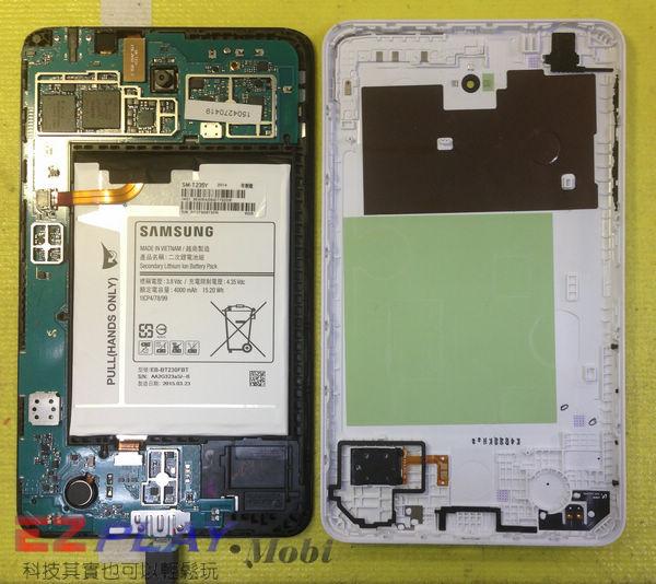 無法顯示的Samsung Galaxy Tab4 液晶面板更換維修記12