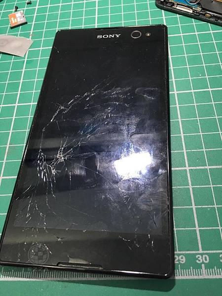 SONY C3面板破裂