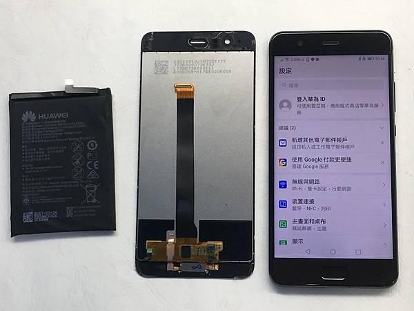 華為P10+手機維修_更換螢幕_更換電池05.JPG