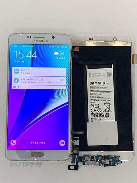 三星NOTE 5 手機維修_面板更換維修_尾插模組更換04.jpg