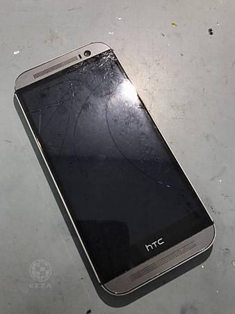HTC M8螢幕摔破了