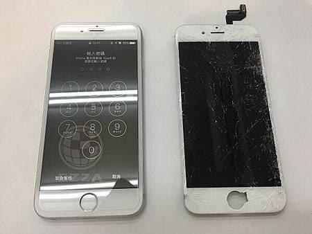 iphone6s面板破裂嚴重
