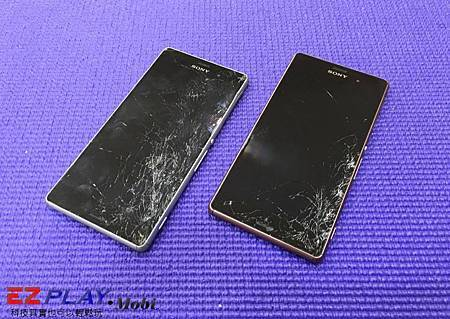 Sony Z3(D6653)螢幕雙雙破裂~