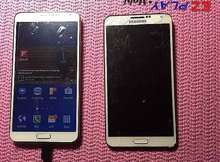 三星Note 3螢幕被小朋友摔破了