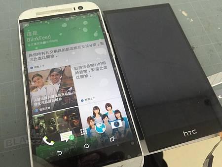 HTC M8 面板破了好無奈