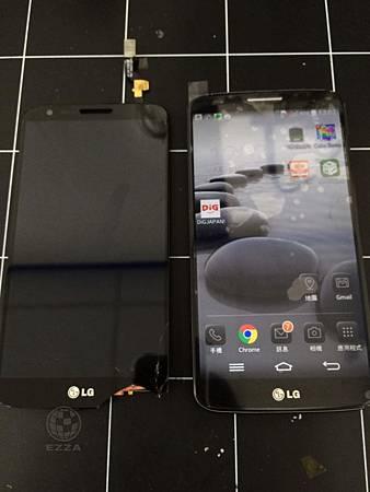 LG G2 面板破裂觸控異常
