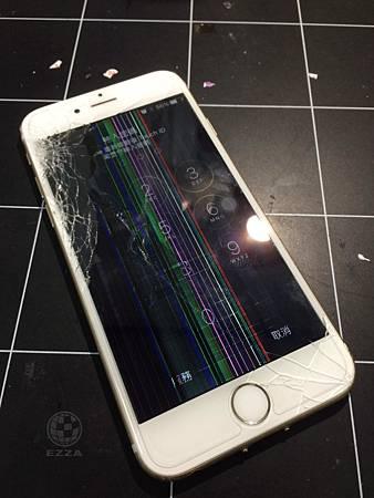 IPHONE6 摔機後出現彩虹