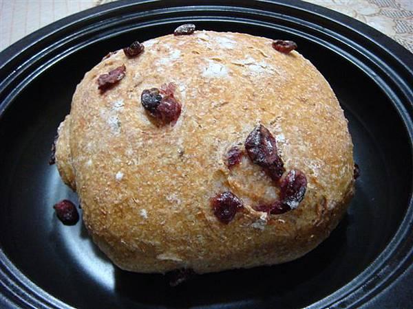 蔓越莓免揉麵包 001.jpg
