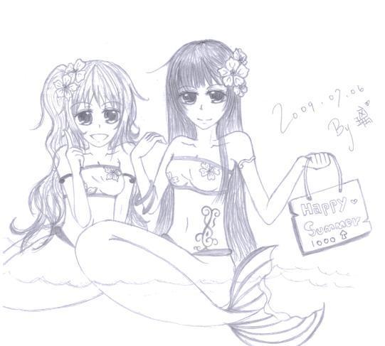 美人魚--賀圖